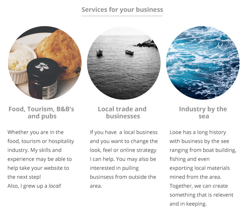 freelance Services for the local area of looe