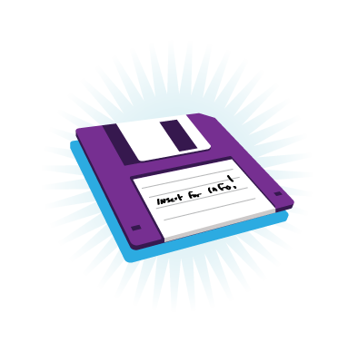Floppy Disk Graphic to Creative Portfolio